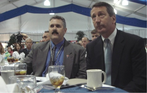 NOKR President Mark Cerney and Governor Mark Sanford South Carolina