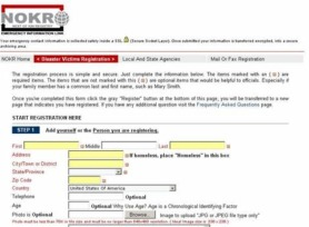 NOKR Registration Page